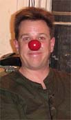 Pat Cashin wearing his just finished clown nose