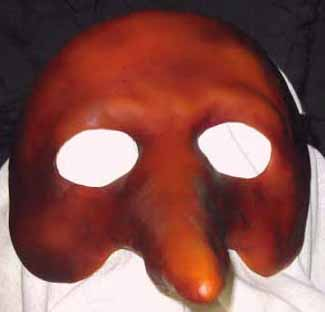 Zanni long nose tan mask front view