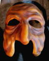 Old lady mask of the Commedia dell'Arte, fron center view