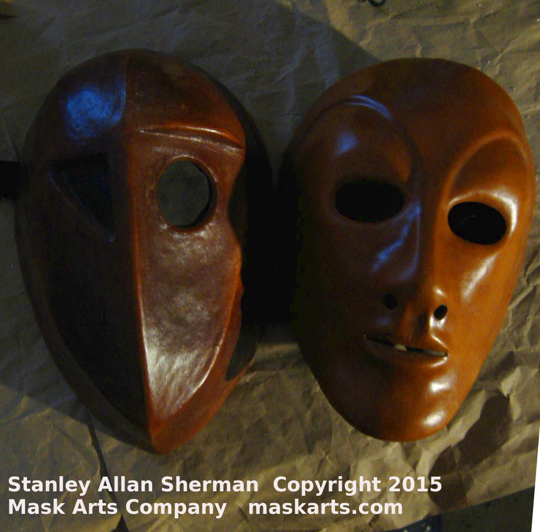 Metaphysical Massk & Neutral Mask side by side front view