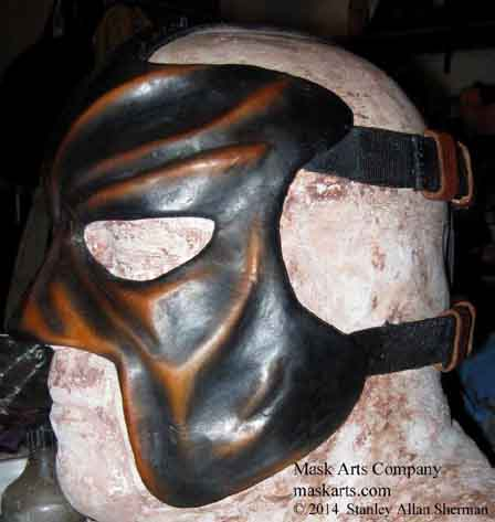 Abyss wrestling mask black & tan left side half mask