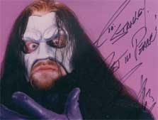 Undertaker custom wrestling mask photo signed Rest in Peace